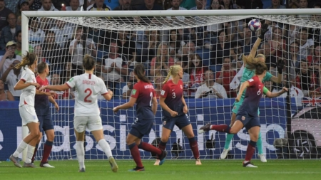 England clobbers Norway to earn 2nd-ever World Cup semifinal berth