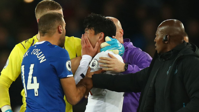 Everton's Gomes suffers horrific ankle injury that leaves Son in tears