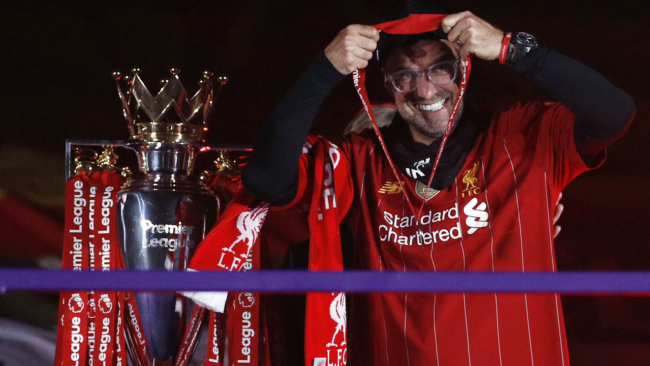 Look: 10 best photos from Liverpool's surreal trophy ceremony